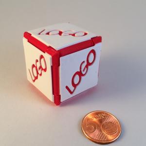 Cube Origami personnalisé avec votre visuel.